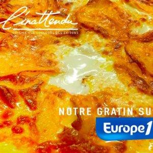 notre gratin dauphinois sur Europe 1