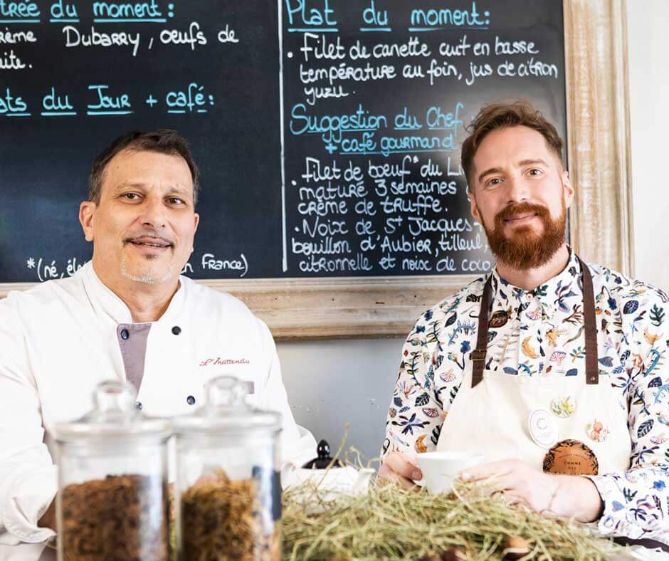 Cuisine herbes et plantes restaurant L'Inattendu Grenoble